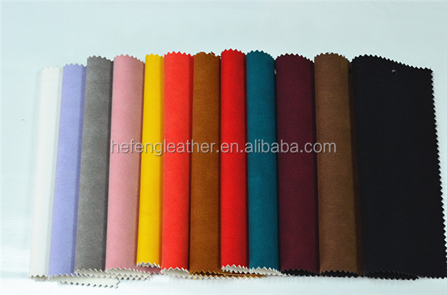 Nubuck upholstery of pu synthetic leather/nubuck leather for sofa and car seat cover