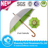 Wooden Shaft Double Layers Fresh Fruit Printing Umbrella