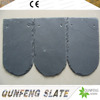 CE Passed Cheap Decorative Stone Fish Scale Shape Lightweight Black Slate Roofing Tile