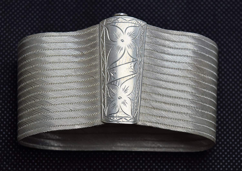 HANDMADE - HAND WOVEN - Trabazon/TrabzonTurkish Vintage 0.925 silver Wire bracelet, Wicker bracelet
