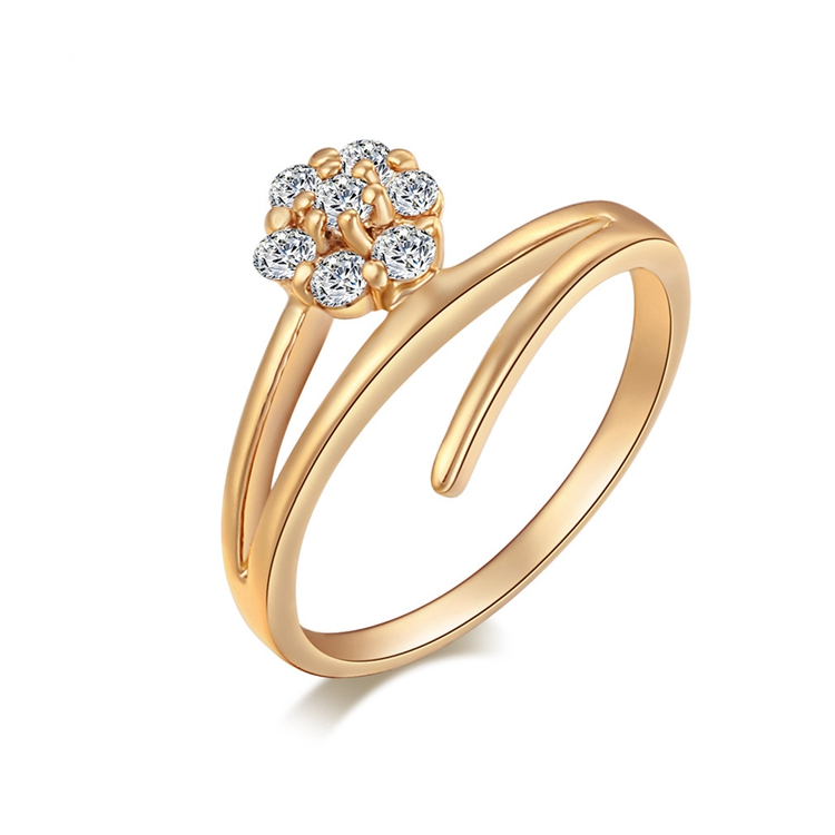 3 Gram Finger Diamond Latest Gold Ring Design For Girl - Buy ...