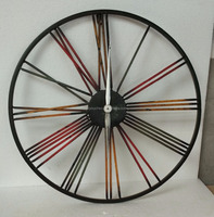 Vintage 50cm Large Wall Clock Wrought Metal Industrial Iron Clock