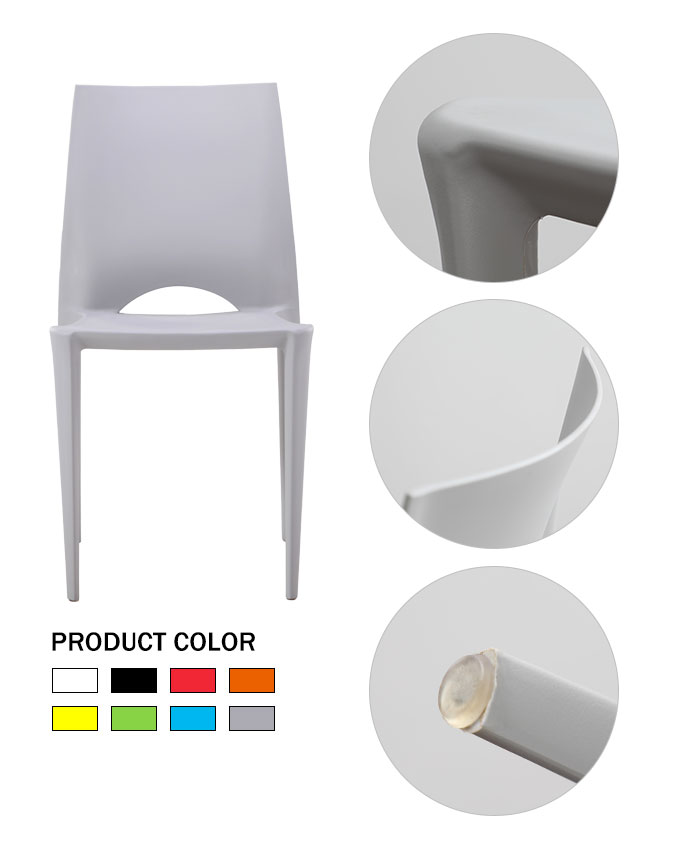 Lowest Price Modern Stackable Weight Cafe Plastic Chair Outdoor