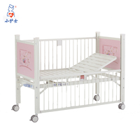 Hospital epoxy coated Semi-fowler new born baby bed medicine children bed,Manual Pediatric hospital bed