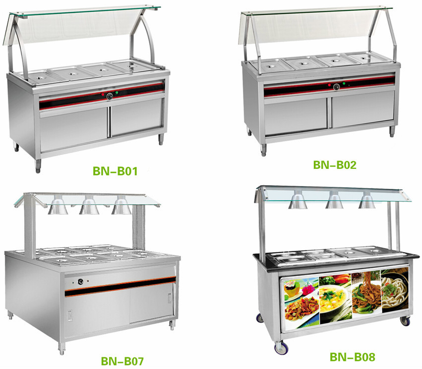 High Quality Kitchen Equipment 6 Pan Electric Bain Marie With ...