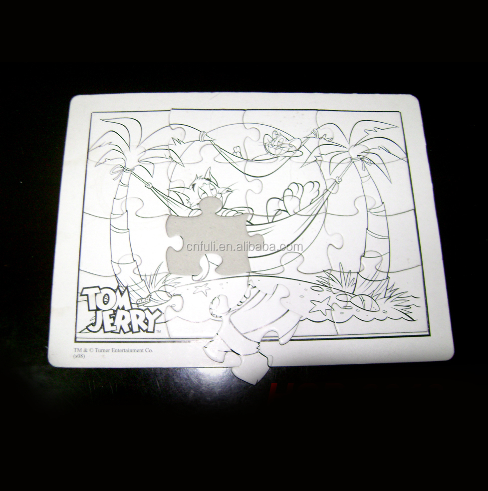 A4 Tamanho Personalizado de Papel Jigsaw Puzzle Puzzle Plana Para Crianças
