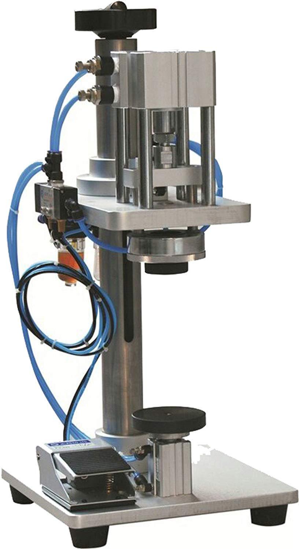 Hanchen Pneumatic Perfume Bottle Capping Machine 13-22 mm Crimping Machine Lid Cap Locking Machine