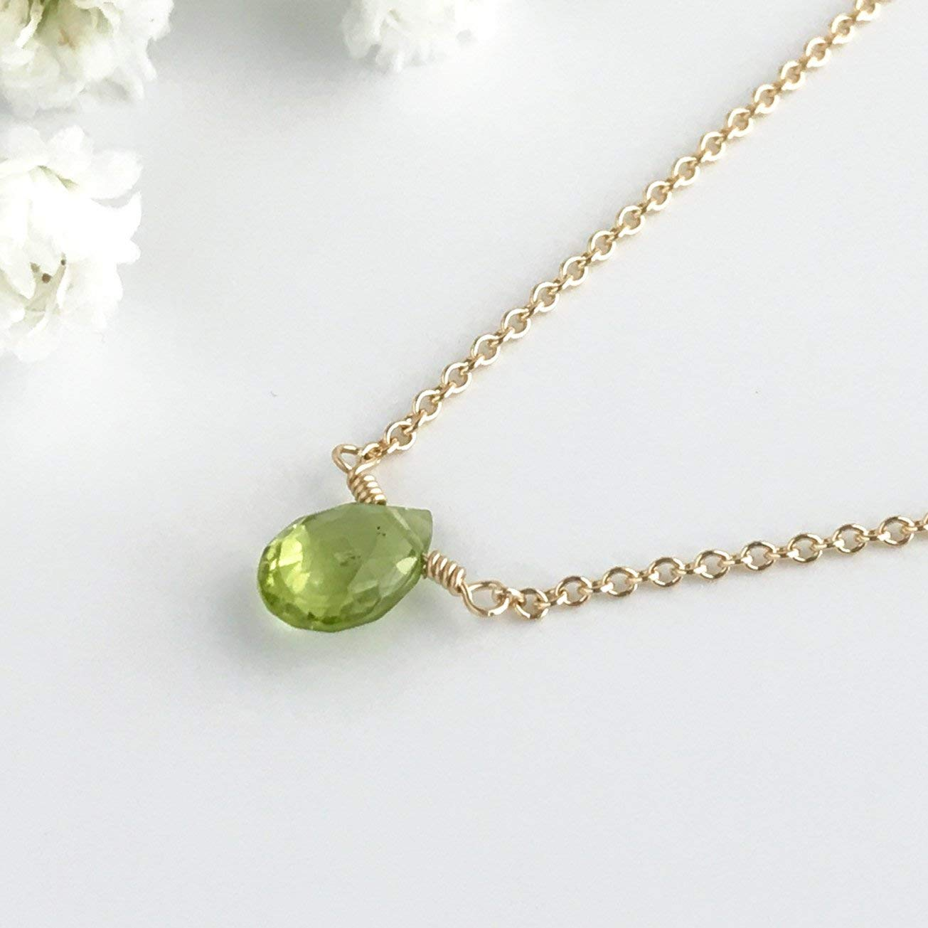 7475d1a19e423 Cheap White Gold Peridot Necklace, find White Gold Peridot Necklace ...