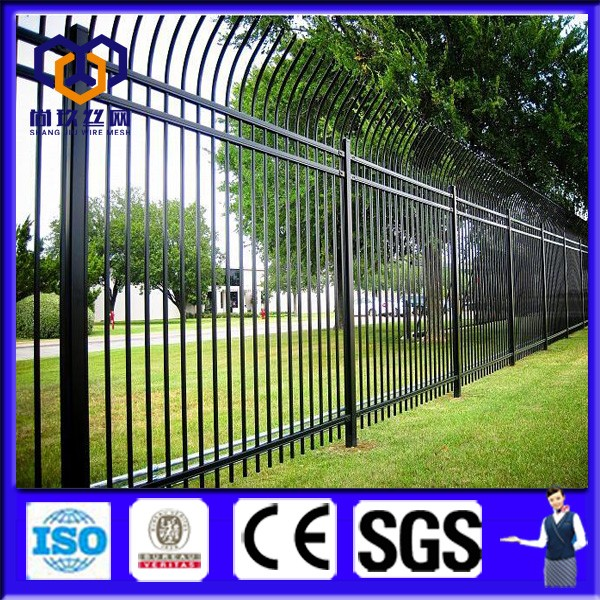 Black Color Steel Picket Fence Panel /Aluminum Fence