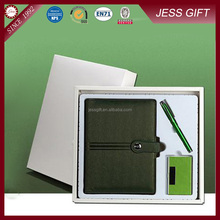 Leather Notebook Gift Set With Pen And Name Card Holder