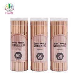 China stationary factory cheap wholesale bulk nature custom HB wood pencil