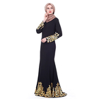 Luxury hot stamping turkish clothing dubai ladies muslim dress middle east women thobe