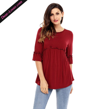869b4f2d508 Western Design Claret Tunic Tops For Women - Buy Tunictops For ...