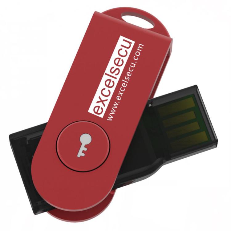 FIDO U2F security key with USB interface