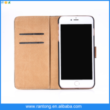 Factory supply OEM design pu leather flip open case for iphone 4/4s wholesale