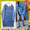 Wholesale men's outwear long sherpa fleece winter fur jean coat boyfriend denim deck jacket