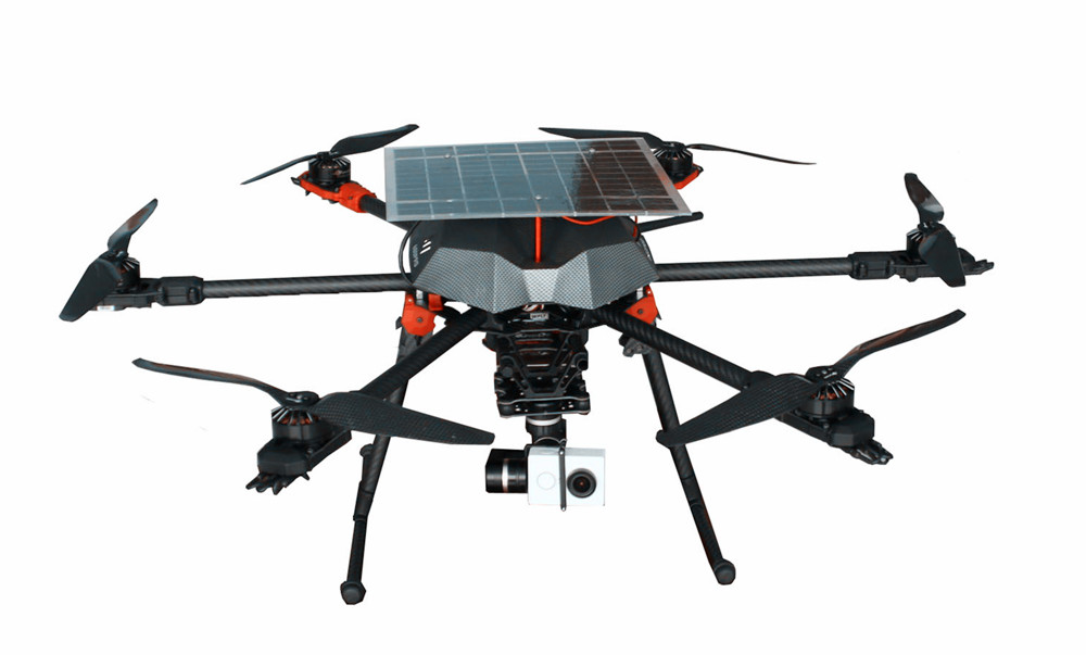 Drone With Solar Panel For Long Flying Time Drone Carbon