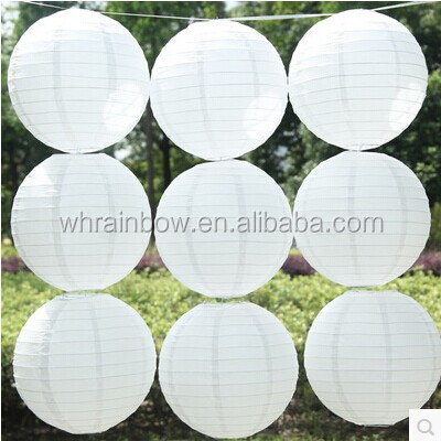 White color round Chinese paper lantern