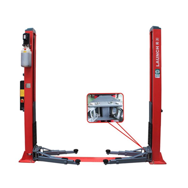Starten TLT250AT 2 post einseitig manuelle senkvorrichtung motorrad jack 5000 kg lift