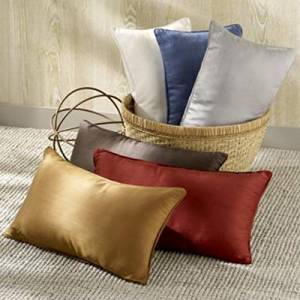 ElleSilk White Silk Filled and Silk Covered Pillow, 100% Pure Mulberry Silk, Queen Size, 1pc