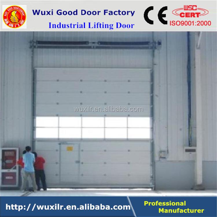 China Supplier Large Vertical Lift Steel Industrial Door