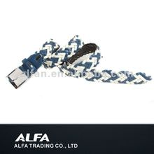 Fashion Braided Belt With Bule And White Color