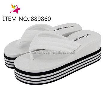 a7fa9b7e1f0f Ladies High Heel Slipper Wedge Flip Flops - Buy Slippers