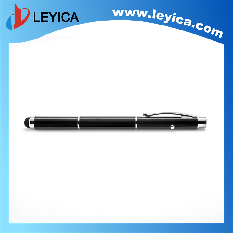 3 in 1 touch stylus pen with laser pointer school supply - LY-S070