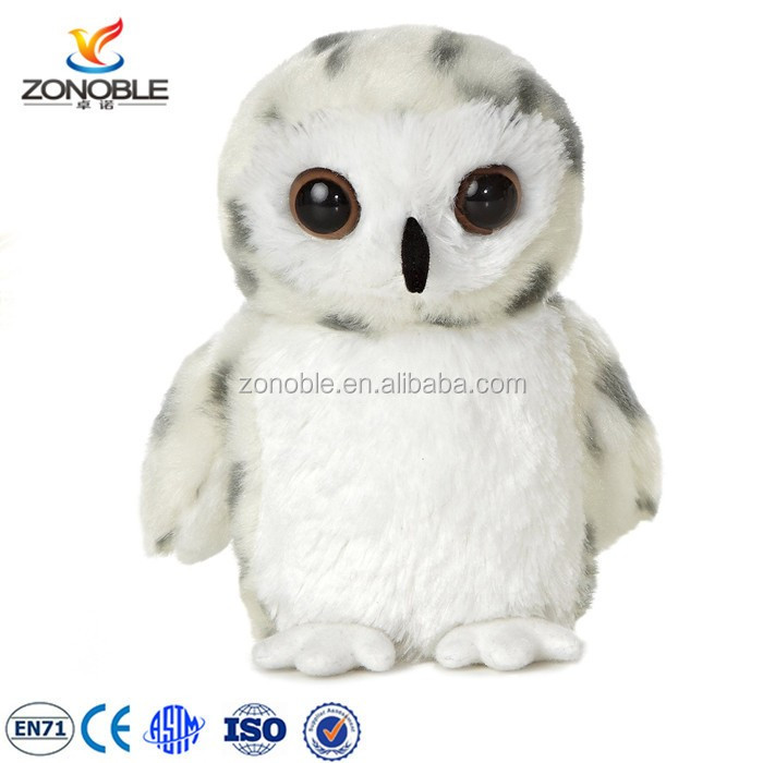 Ecustom White Plush Owl Soft Toy Fashion Cute Soft Plush Owl Stuffed