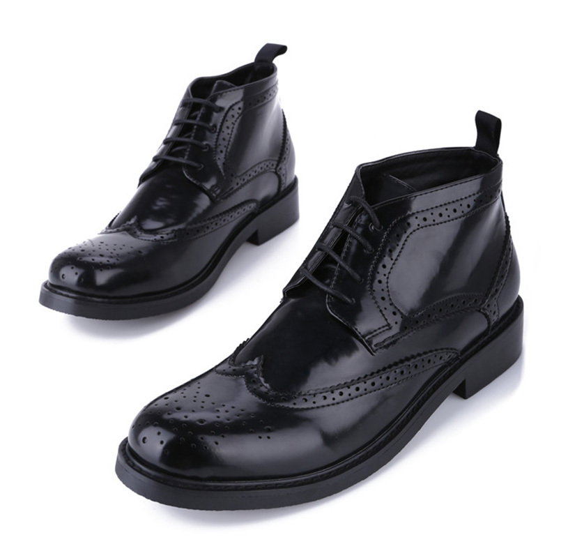 2015 Autumn Winter Men Shoes Boots Classical Black Lace Up Winter Shoes Men Round Toe Dress Wedding Formal Mens Boots Shoes