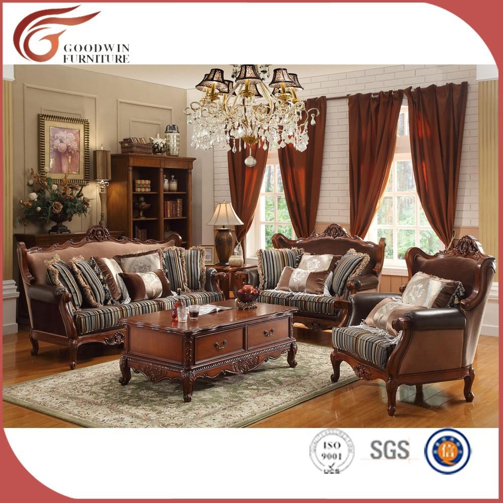 Model Baru Klasik Gaya Italia Sofa Ukiran Kayu A92 Furniture Kayu