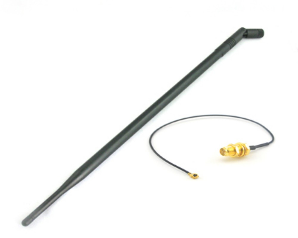 Wifi Antenna 2.4GHz 9dbi with RP-SMA male connector for wireless router +IPX to RP-SMA Jack Male Pin Pigtail Cable