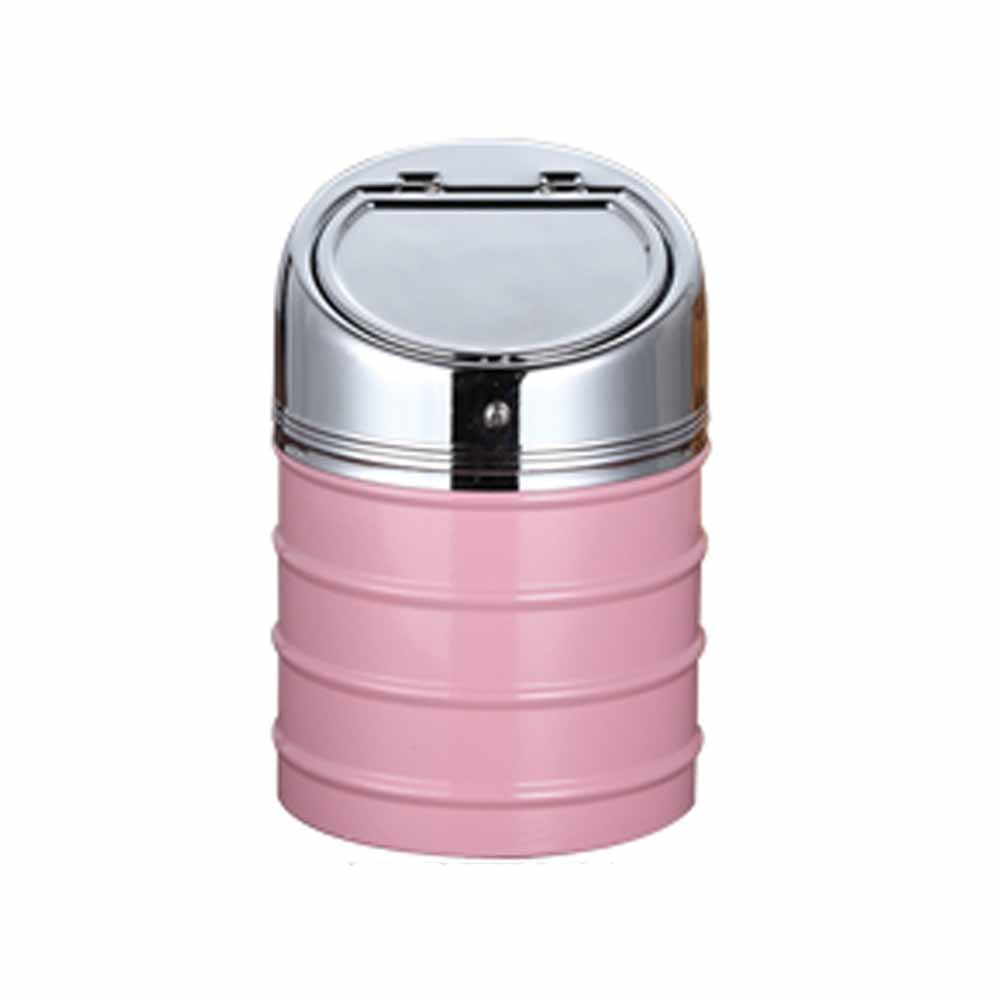 OILP Car Ashtray With Lid,Cigarette Ashtray for Car Holder Outdoor Windproof Ashtray for Outside Desktop Tabletop Home Office(Pink,Small)