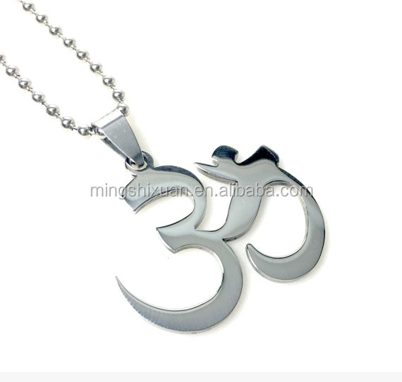 Mens Ohm Symbol Pendant Stainless Steel Necklace Om Yoga Jewelry Product On Alibaba