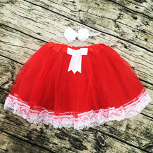 wholesale red tutu with lace cheap kids lace tutu