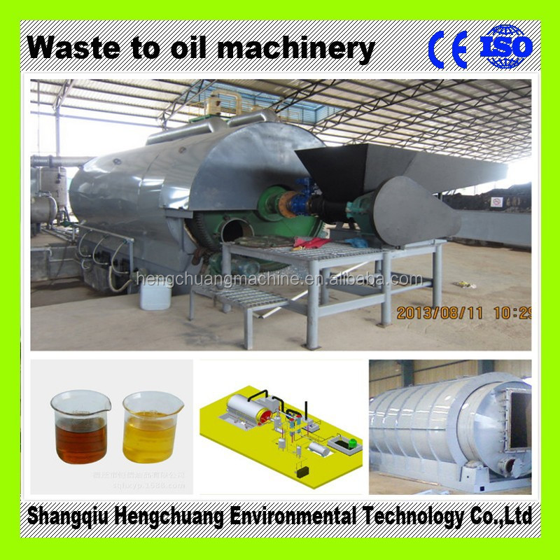 safety 100% waste tyre refining oil equipment with CE automatic welding x-ray testing