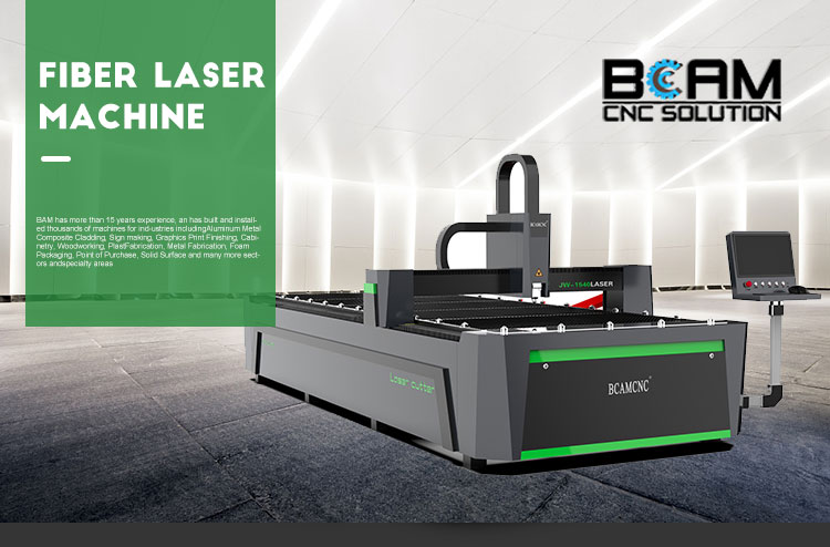 BCAMCNC Industry Laser Equipment 1000w Cnc Fiber Laser Cutting Machine For Steel Metal Sheet