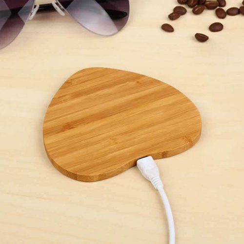 Special Bamboo Wood Wireless Charger for Smart Phones, QI Charger Pad Factory Price