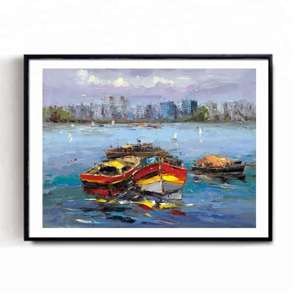 Trova le migliori dipinti a olio paesaggi marini con barche ...