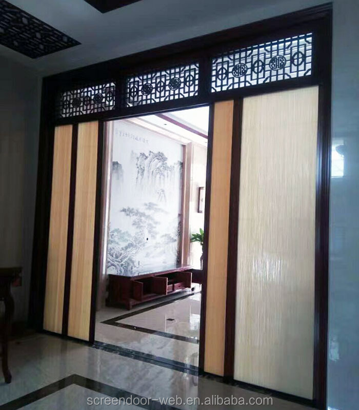 aluminum anti mosquito retractable pleated screen door