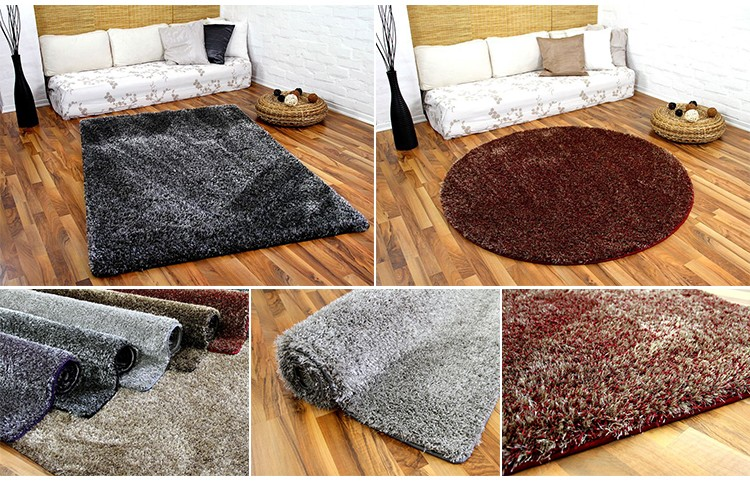 sweet home stores cozy shag collection solid living u0026 bedroom soft shaggy area rug