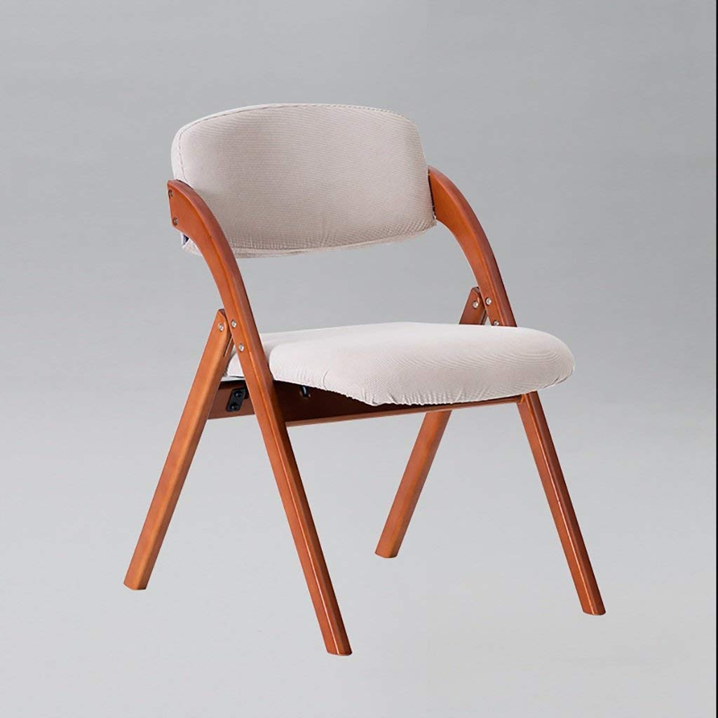 fold up chairs Restaurant coffee chair solid wood folding chair backrest creative dining chair Nordic dining chair washable Folding Chairs (Color : 3)