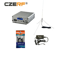 CZE-15A 2W/15W Stereo wireless Radio Station fm transmitter equipment Silver color audio amplifier