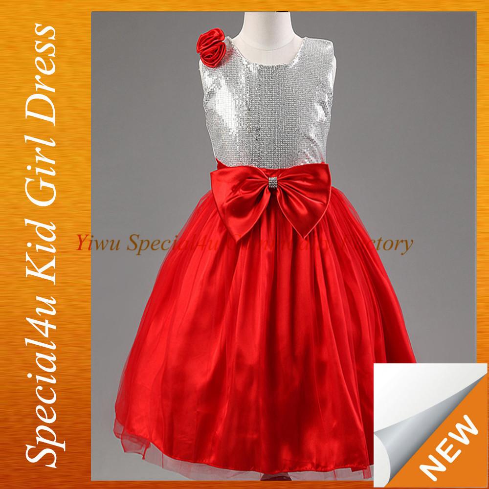 100% Cotton Girls Dress Baby Frock Designs Sfubd-1084