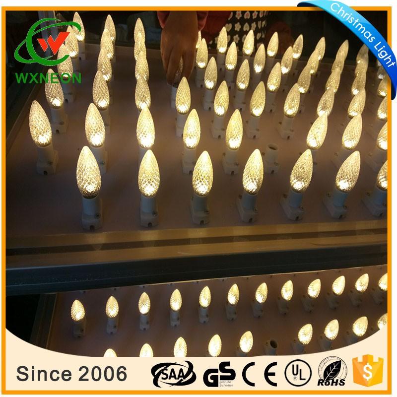 Preço de fábrica LED C9 C9 facetada LED lâmpadas Ao Ar Livre luzes De Natal
