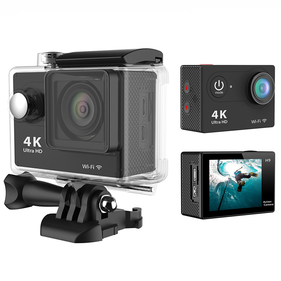 gopro hero 3 style action camera eken h9 ultra hd 4k go pro wifi sport camera 1080p 60fps mini. Black Bedroom Furniture Sets. Home Design Ideas