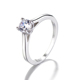Shiny Single Big Cubic Zirconia Latest Design S925 Sterling Silver Jewelry Engagement Rings For Women