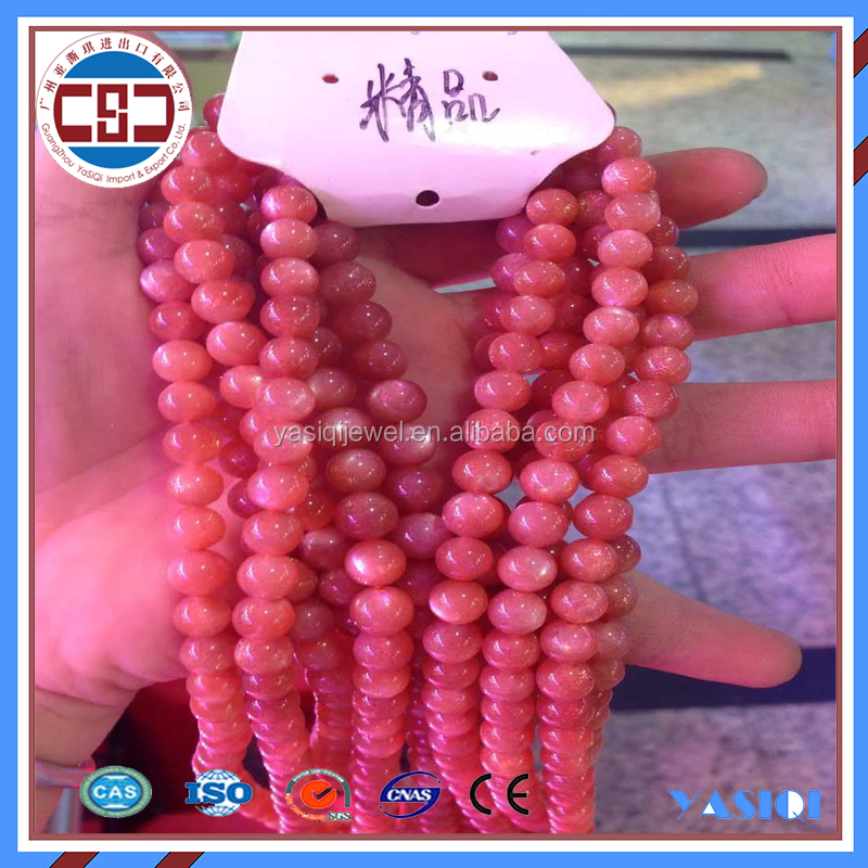 Wholesale Cheap Faceted Round Shape Natural Sunstone Loose Beads