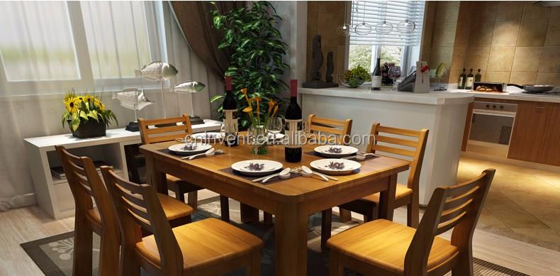 Genial Solide Couleur Cerise Table à Manger Avec Des Chaises En Bois