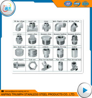 made in china casting stainless steel pipe fitting names and parts